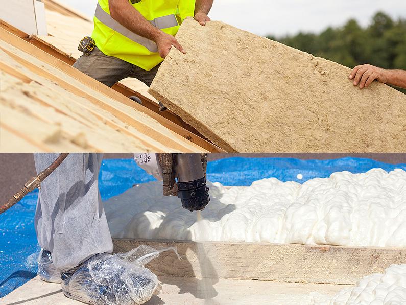 Aislamiento de cubiertas con lana de roca, espuma de poliuretano, poliestireno expandido, paneles PIR para una mejor eficiencia energética Cantitec