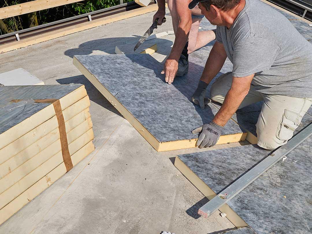 Aislamiento de tejado con Panel PIR