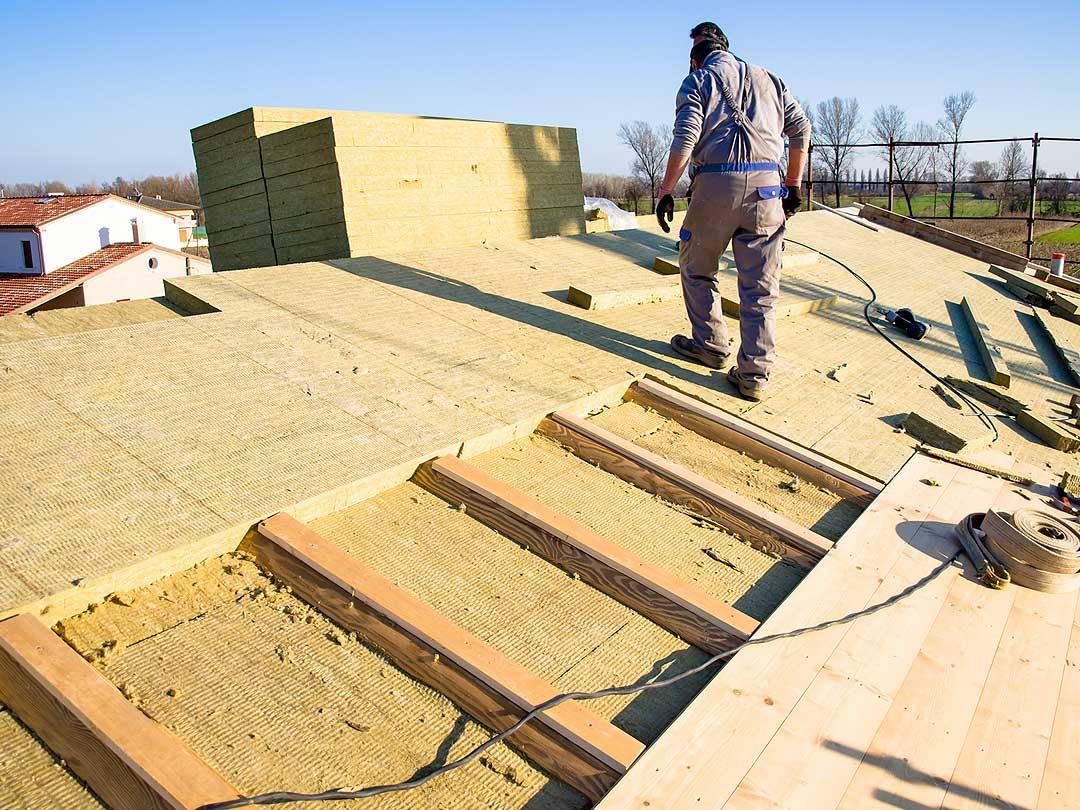 Aislamiento de tejado con Panel Lana de Roca