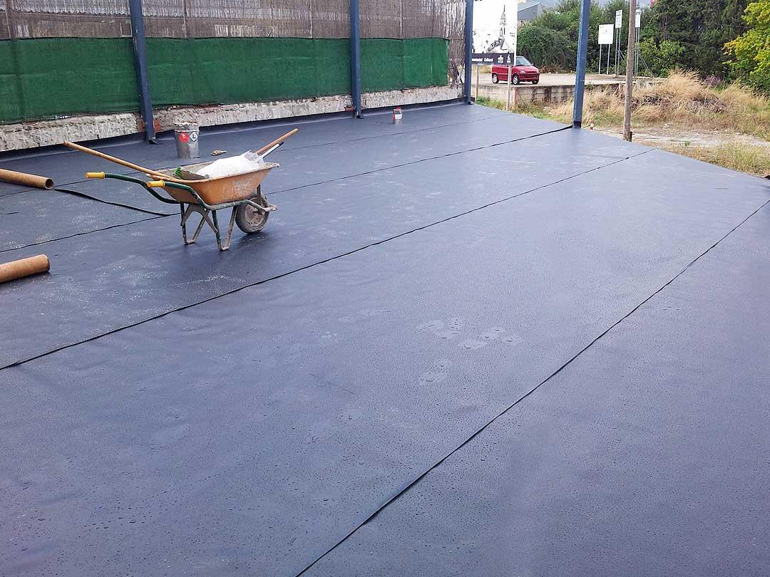 Impermeabilización de superficie plana con Lámina (PVC) 1.2 mm FP UV
