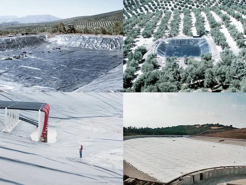 ejemplos y tipos de impermeabilización de balsas de agua Granada Málaga Sevilla Almería y Jaén Cantitec