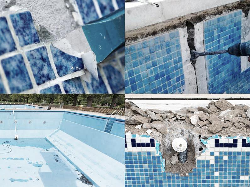 ahorrar con tu piscina reparando las fisuras y grietas de tu piscina con la empresa Cantitec de Granada Málaga Almería y Jaén