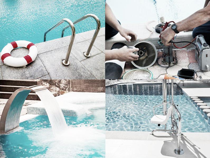 Mantenimiento y limpieza en una piscina de todo el equipamiento una vez terminado el verano Cantitec Granada Malaga Sevilla Cordoba Jaen Almeria