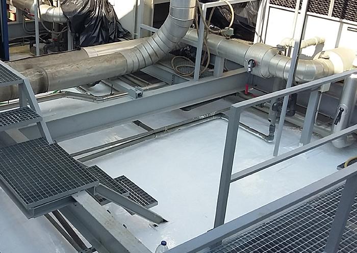 Elige Impermeabilización con Poliurea en cubierta técnica con maquinaria para una protección total de la superficie