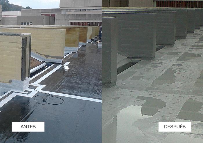 Elige Impermeabilización con Poliurea en cubiertas técnicas para una protección total de la superficie