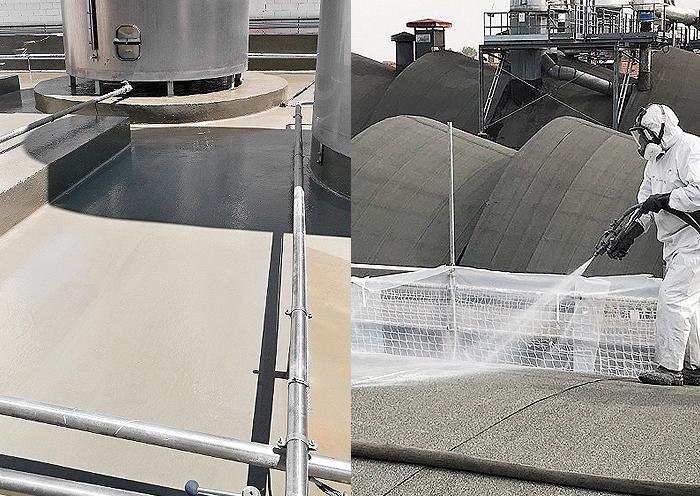 Elige Impermeabilización con Poliurea en zonas industriales para una protección total de la superficie