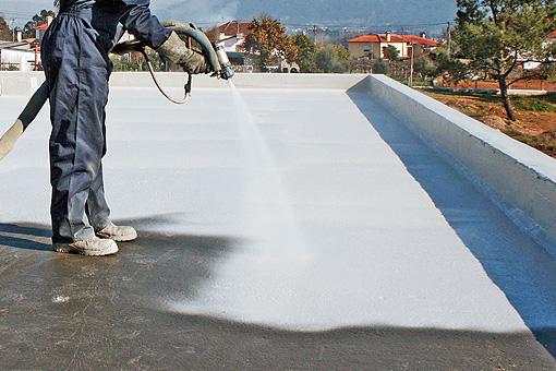 Impermeabilización de cubierta en Granada realizado por la empresa Cantitec