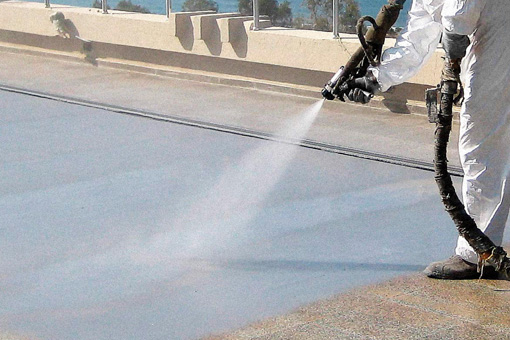 Servicios de impermeabilización con poliurea en caliente Cantitec Alicante
